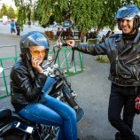 Ivan and Vasilitsa, my biker angels in Krasnoyarsk, calling all hotels in town to help me find a place to sleep