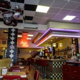 The Russian fascination with old American Culture This is a classic American Diner called Pretty Betty in Chelyabinsk.